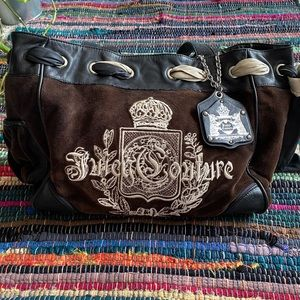 Gorgeous Brown Velour Juicy Couture Daydreamer Bag